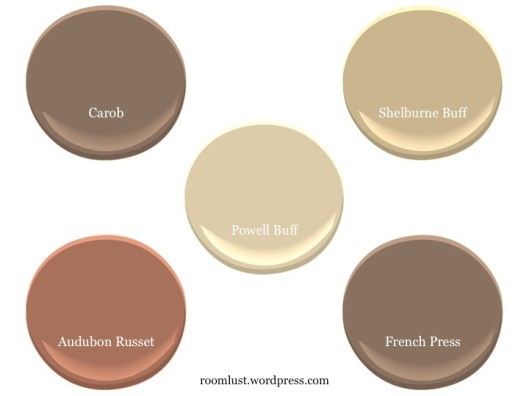 Benjamin Moore Powell Buff complements, via #RoomLust
