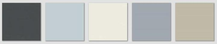 Benjamin Moore Swiss Coffee palette, via #RoomLust