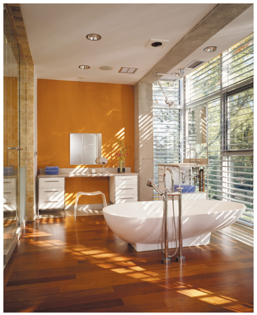 Benjamin Moore Orange Sky, via #RoomLust