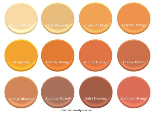 Designers' favorite orange paints, via #RoomLust