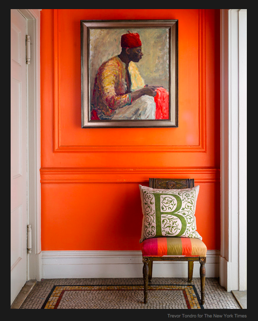 The best orange paint colors, via #RoomLust