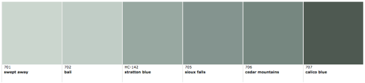 Benjamin Moore Wythe Blue paint strip, via #RoomLust