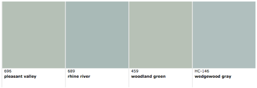 Benjamin Moore colors similar to Wythe Blue, via #RoomLust